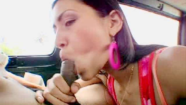 Car, Hardcore, Latina, Riding, Small tits, Van