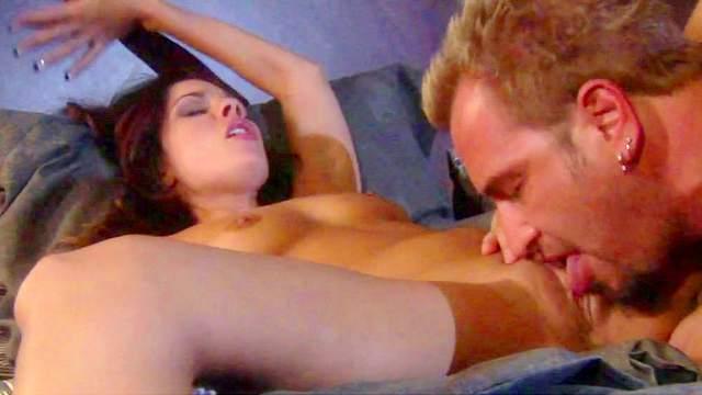Balls-sucking babe Kirsten Price tastes a dick