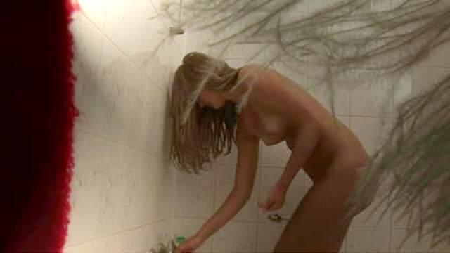 Captured masturbating in the shower