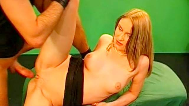 Whore gets her pussy and asshole fucked in a threesome