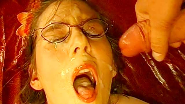 Slender cum-swallowing cutie is getting drilled in mouth