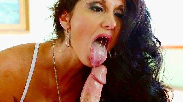Ava Addams is sucking this sloppy dick