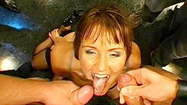 Melissa and Magdalena are two cum-sucking babes