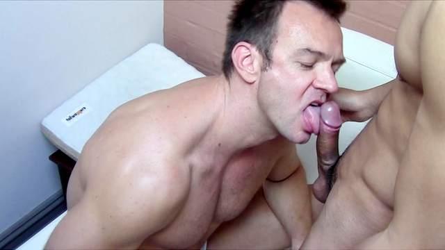 Ball licking, Blowjob, Couple, Cumshot, Kissing, Sofa, Underwear