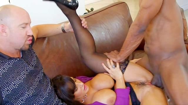 Lisa Ann, and giant black dick