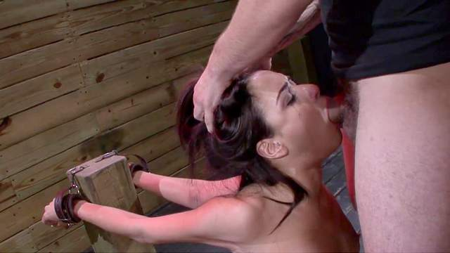 Blowjob, Bondage, Brunette, Crying, Deepthroat, Hair pulling, Young girl