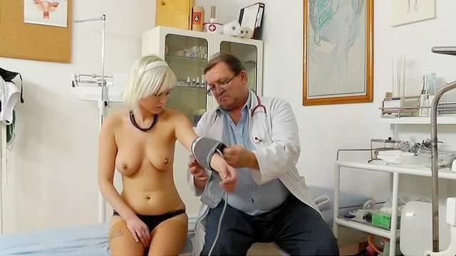 Beauty, Blonde, Gyno, Hidden cam, Hospital, Lingerie, Natural tits, Stockings, Teen, Voyeur