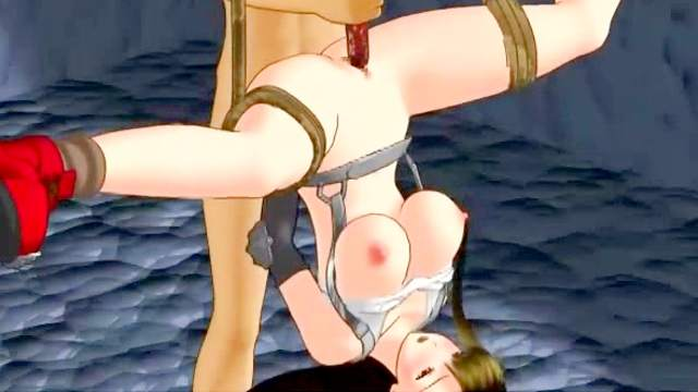 3D Animation, Ball gag, Big tits, Bondage, Brunette, Dildo, Doggy style, Fingering, Hanging, Shaved pussy, Tits torture, Whip, Whipping