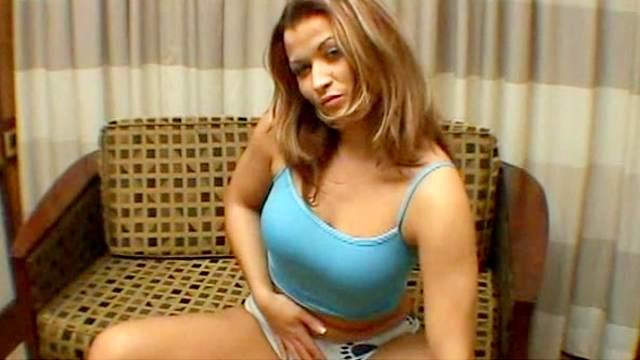 Milf is taking off her nice bra and panties