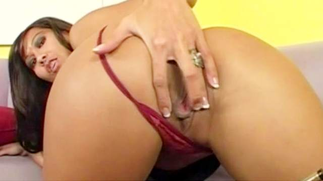 Blowjob, Brunette, Couple, Doggy style, Long hair, MILF, Pussy licking, Riding, Small tits, Sofa, Spread legs, Stroking, Tight dress, Trimmed pussy