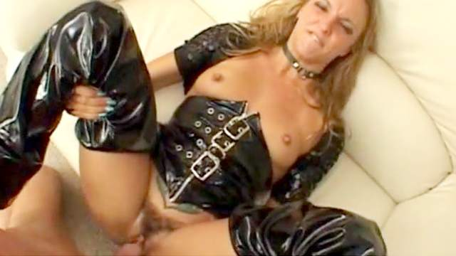 Anal, Ball licking, Blonde, Blowjob, Boots, Corset, Couple, Cum in mouth, Dildo, Long hair, MILF, Reverse cowgirl, Riding, Small tits, Spread legs, Toys, Trimmed pussy