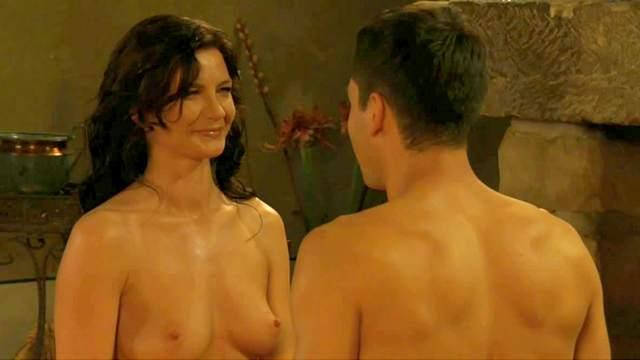 Brunette, Couple, Erotic, Massage, Natural tits, Oil, Romantic