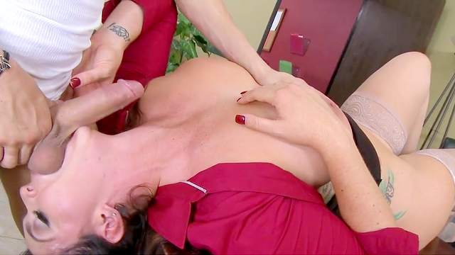 Busty Alison Tyler roughly fucked in her beautiful pussy