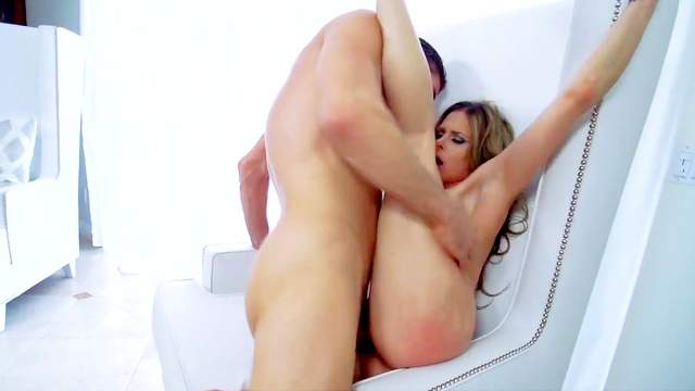Cock sucking blonde enjoys extreme moments of sex