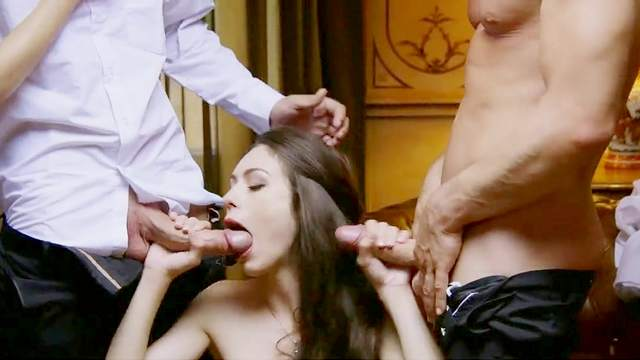 Fantastic babes in cock swapping hardcore foursome