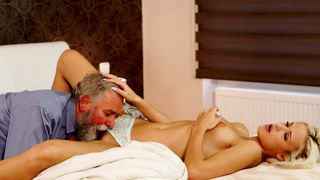Babes, Blonde, Blowjob, Cumshot, Doggy style, Grandpa, HD, Old and young, Old man, Petite, Pussy licking, Reverse cowgirl, Riding, Small tits, Young girl, 1080p