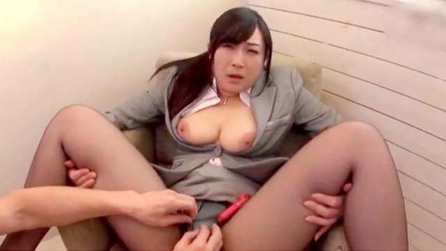 Amateur, Asian, Big tits, Business woman, Fingering, Japanese, MILF, Moaning, Natural tits, Office, Pantyhose