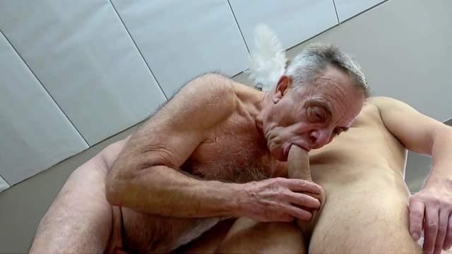 Blowjob, Cum in mouth, Cumshot, Grandpa, HD, Old man, Rimjob, 1080p