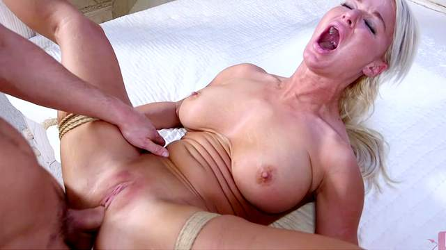 London River gagged and fucked in dirty bondage fetish