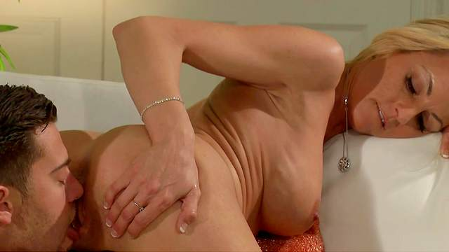 Married woman rides young man's dick in hard modes