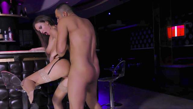 Tina Kay gets laid at the club and loves the action