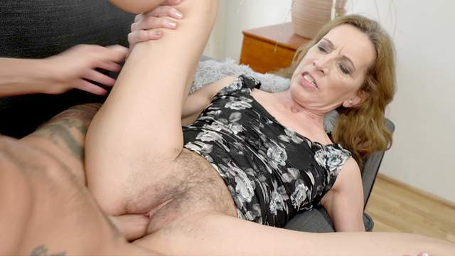 Aroused babe with hairy cunt, dirty sex with her nephew