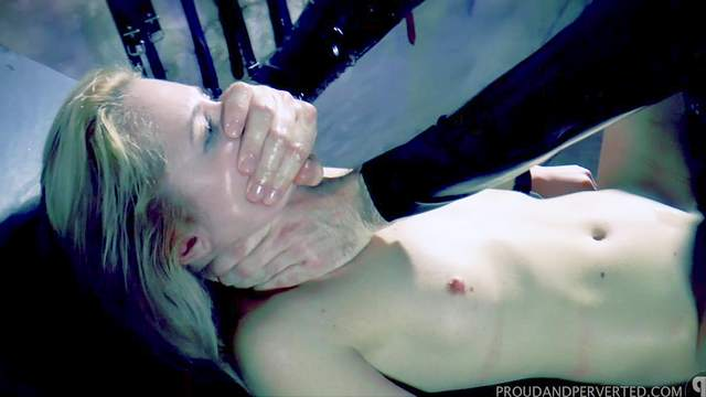 Gagged hottie gets punished by being fucked in all holes then jizzed
