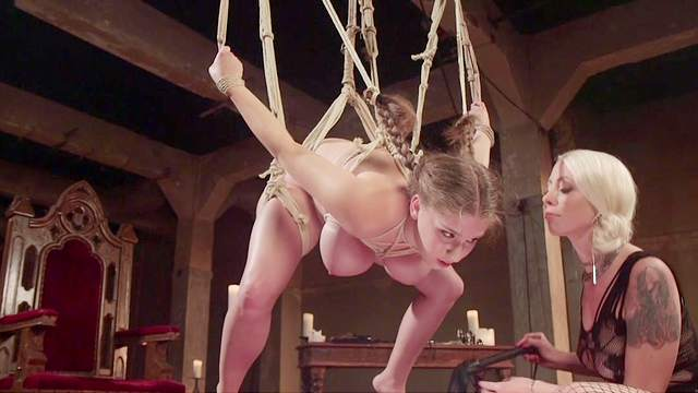 Crazed lesbian bondage sex for hotties Lorelei Lee and Alex Chance