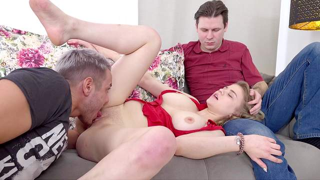 Amateur with big natural tits, cam sex in first cuckold special