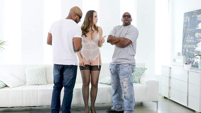 Thick woman shared by a couple of black thugs with insane dicks