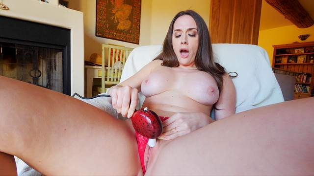 That's some pretty intense toying this MILF provides