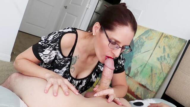 Sexual delight with a fine mature on fire