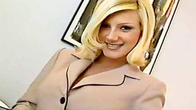 Beauty, Big tits, Blonde, HD, Office, Secretary, Solo, Tease