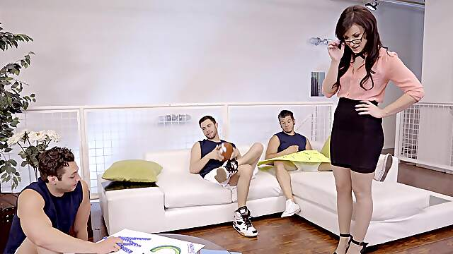MILF soaks young mens' dicks in her wet holes