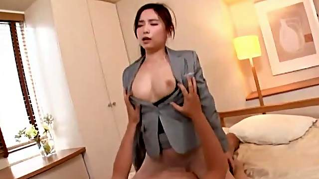 Japanese office MILF feels keen to fuck at work