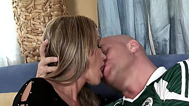 Adorable blonde rides cock in addictive manners