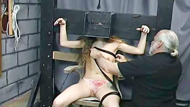 Babes, BDSM, Bondage, Curly, Dungeon, HD, Small tits, Stockings, Tattoo