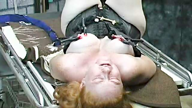 Amateur, BBW, BDSM, Corset, Gaping, Hanging, Maledom, Table, Tied, Toys
