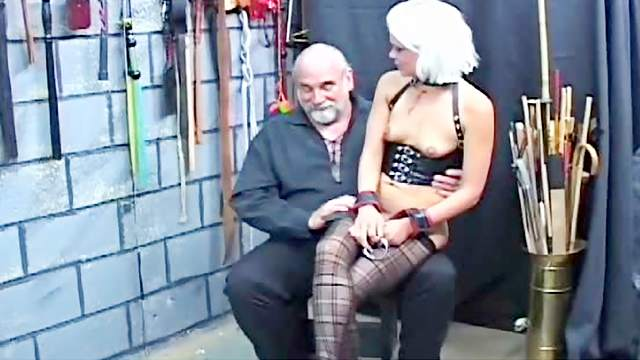 Bondage, Dungeon, HD, Old and young, Rope, Small tits, Stockings, Vibrator