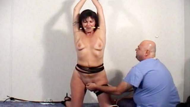 BDSM, Brunette, Electrostimulation, Extreme, Fetish, Forced orgasm, Gagging, Mature, Mom, Small tits, Toys