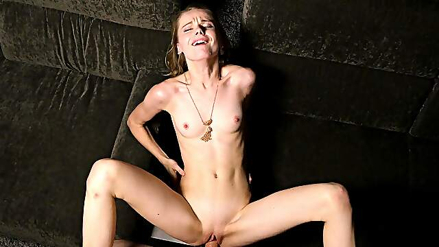 Blonde Russian chick with shaved pussy gets fucked - Catarina Petrov