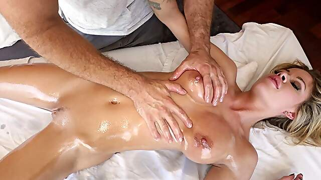 Nude busty wife wants more than a simple massage