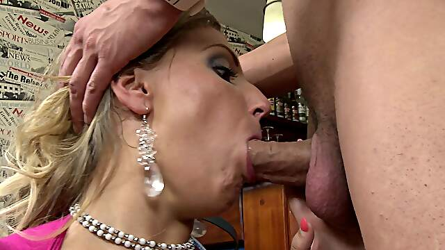 Cristal Swift with natural boobs and shaved pussy gets fucked