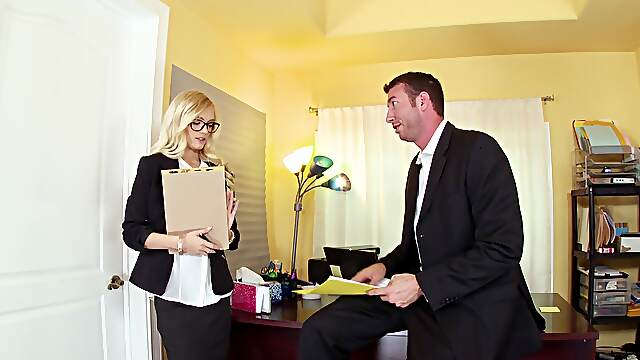 Office broad pleases new manager with the best XXX