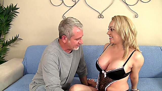Sweet broad shakes them huge tits in scenes of hard casting sex