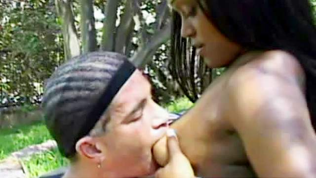 Thick white guy loves the black pussy