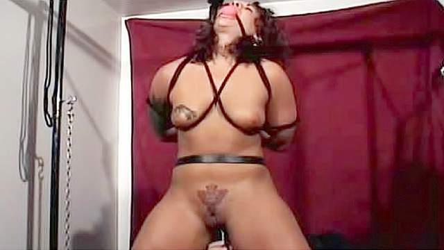 BDSM, Dungeon, Gagging, Hanging, Maledom, Tattoo, Tied, Torture, Wrap bondage
