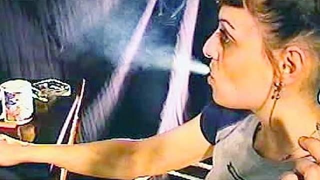 Webcam smoking fetish video