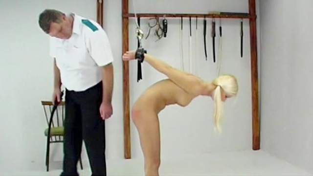 BDSM, Blonde, Caning, Hanging, Pigtails, Punishment