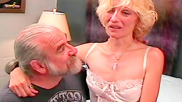 Milf blonde spanked on the sexy ass